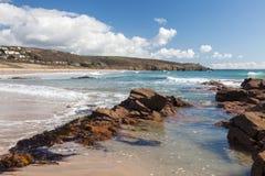 Praa Sands Cornwall England Stock Image
