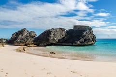 Rocky Bermudan Coastline images libres de droits