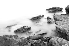 Rocky Black Sea coast Stock Images