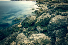 Rocky Black Sea coast Royalty Free Stock Photos