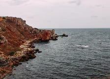 Rocky Black Sea-Küste stockfoto