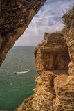 Rocky Black Sea-Küste am Kap Kaliakra, Bulgarien lizenzfreie stockbilder