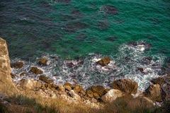 Rocky Black Sea-Küste von Bulgarien stockbild