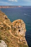 Rocky Black Sea-Küste von Bulgarien lizenzfreie stockfotos