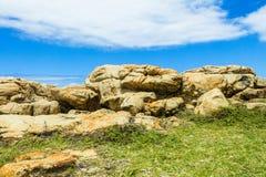 Rocky Boulders Coastline imagen de archivo libre de regalías