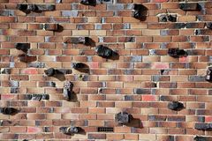 Rocky Brick Wall Royalty Free Stock Photography