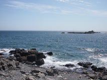 Rocky British Coastline Lizenzfreie Stockfotos