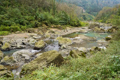 Rocky brook in mountain Stock Photography