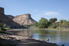 Colorado River near Interstate 70 in Palisade Area stock photos
