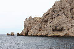 Rocky calanques coast, Marseille, France Stock Image