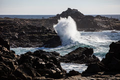 Rocky California Coast and Waves Stock Image