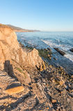 Rocky California Ocean Cliffs Royalty Free Stock Photography