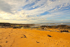 Rocky Cambo Beach in Scotland Stock Photo