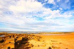 Rocky Cambo Beach in Scotland Royalty Free Stock Photography