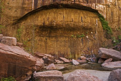 Rocky canyon wall Stock Images