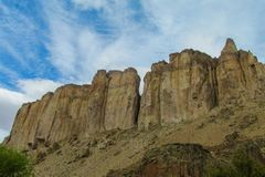 Rocky canyon walls. At cloudy day Stock Photo