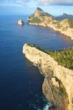 Rocky Cap Formentor. Scenic rocky coast and bay of Cap Formentor, Majorca island, Spain Stock Images