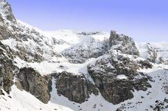Rocky Carpathians in winter Royalty Free Stock Photos