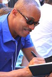 Rocky Carroll. Rocky sign autograph at Walk of Fame ceremony Stock Photography