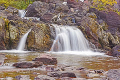 Rocky Cascade in the Mountains Stock Image