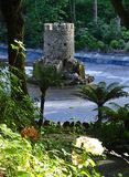 Rocky Castle på markplanet - den Pena slotten - Sintra, Portugal Royaltyfri Fotografi