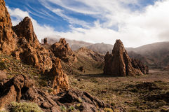Rocky Cathedral de Teide Photos libres de droits