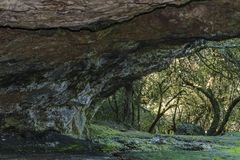 Rocky Cave Background. Rocky cave view at countryside of Uruguay Stock Images