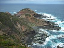 Rocky cliff of Cape Schank Stock Photography