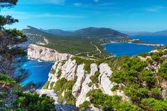 Rocky cliff in Capo Caccia Stock Photography
