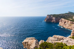Rocky cliff in Capo Caccia Royalty Free Stock Photography