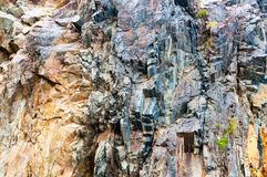 Rocky cliff face Royalty Free Stock Images