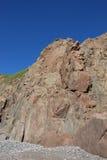 Rocky Cliff - Maine Royaltyfria Bilder