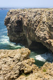 Rocky cliff in Sagres, Portugal, Europe Royalty Free Stock Image