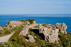 Rocky cliff seaside Royalty Free Stock Photography