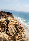 Rocky cliff, Torrey Pines beach Royalty Free Stock Image