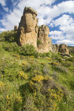 Rocky cliffs. In Gudar Mountains, Teruel, Spain Stock Photo