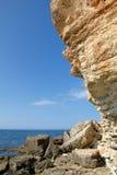 Rocky cliffs, the Black Sea coast Royalty Free Stock Photography