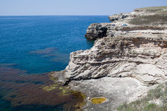 Rocky cliffs, the Black Sea coast Stock Images
