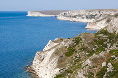 Rocky cliffs, the Black Sea coast Royalty Free Stock Images