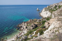 Rocky cliffs, the Black Sea coast Stock Image
