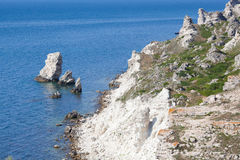 Rocky cliffs, the Black Sea coast Royalty Free Stock Image