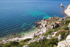 Rocky cliffs, the Black Sea coast Royalty Free Stock Photo