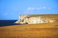 Rocky cliffs, the Black Sea coast Stock Image