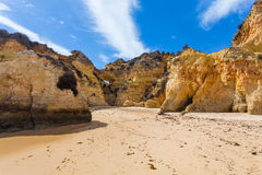 Rocky cliffs on the coast of the Atlantic ocean Royalty Free Stock Photography