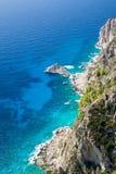 Rocky cliffs on coast line Stock Photo