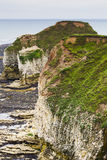 Rocky cliffs on coastline Flamborough Head Stock Photo