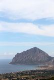 Rocky cliffs of monte cofano, trapani Royalty Free Stock Photography