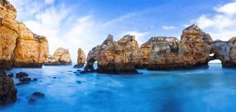 Rocky cliffs of Ponta da Piedade at Lagos, Portugal Stock Image