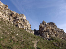 Rocky cliffs by the sea.  Tarhankut Stock Image