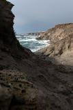 Rocky coast. Coast rocky west of the island of sant'antioco, sardegna, italia royalty free stock photo